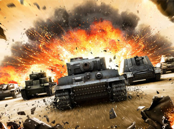 Популярная игра world of tanks
