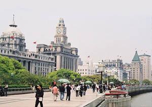 Набережная Вайтань, Шанхай.