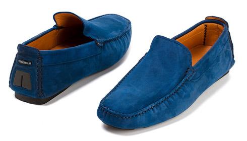 синие мокасины