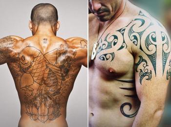 Мужские татуировки: выбор места и рисунка, фото