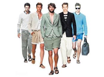 С чем носить мужские сандалии?