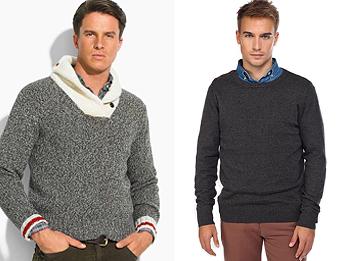 Как носить мужской свитер, пуловер, джемпер?