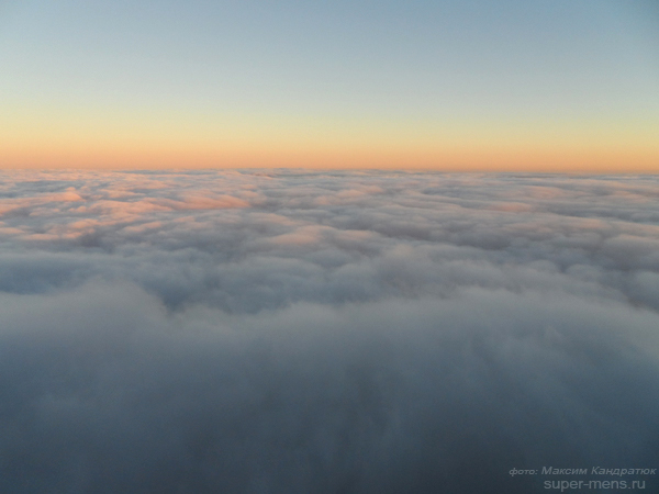 облака, зима