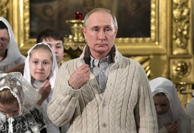 Свитер Путина на рождество 2020