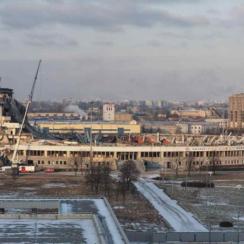 Крушение спортивного комплекса в Санкт-Петербурге: видео